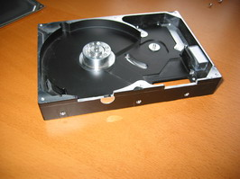 Dremmeling the hard drive case