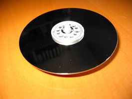 Mounting disc clock