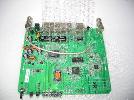 Rinsing PCB in water