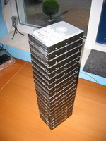 Half a meter of hard drives