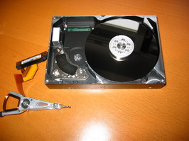 Removal of hard drive heads
