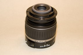 Canon EFS 18-55 Back cap on front