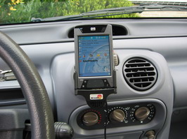 iPAQ car holder mounted