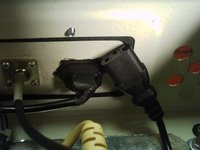 Soldered power outlet