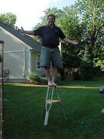 Author Standing on Tripod
